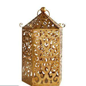 Golden Pagoda Medium Metal Lantern - Pier 1